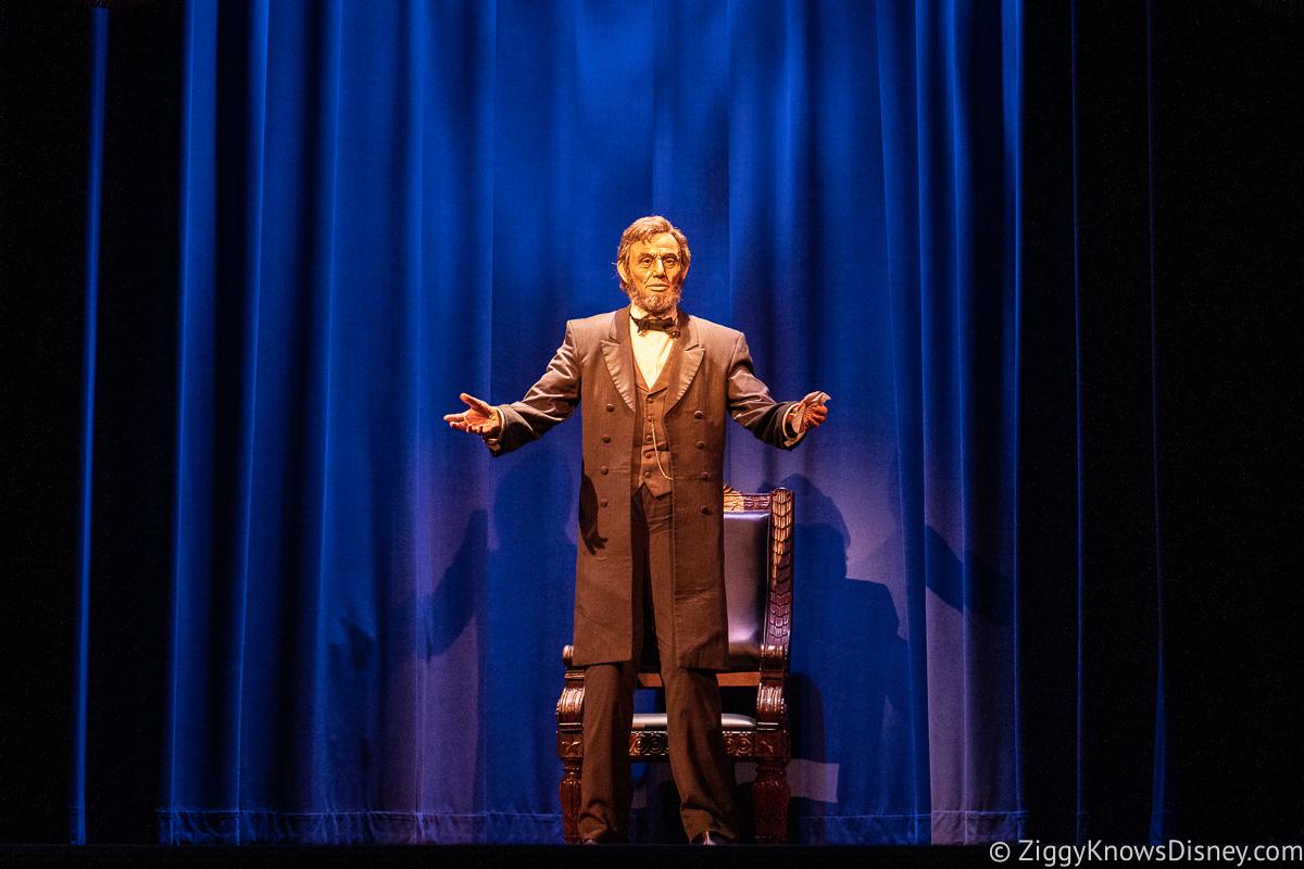 Abraham Lincoln animatronic figure Hall of Presidents