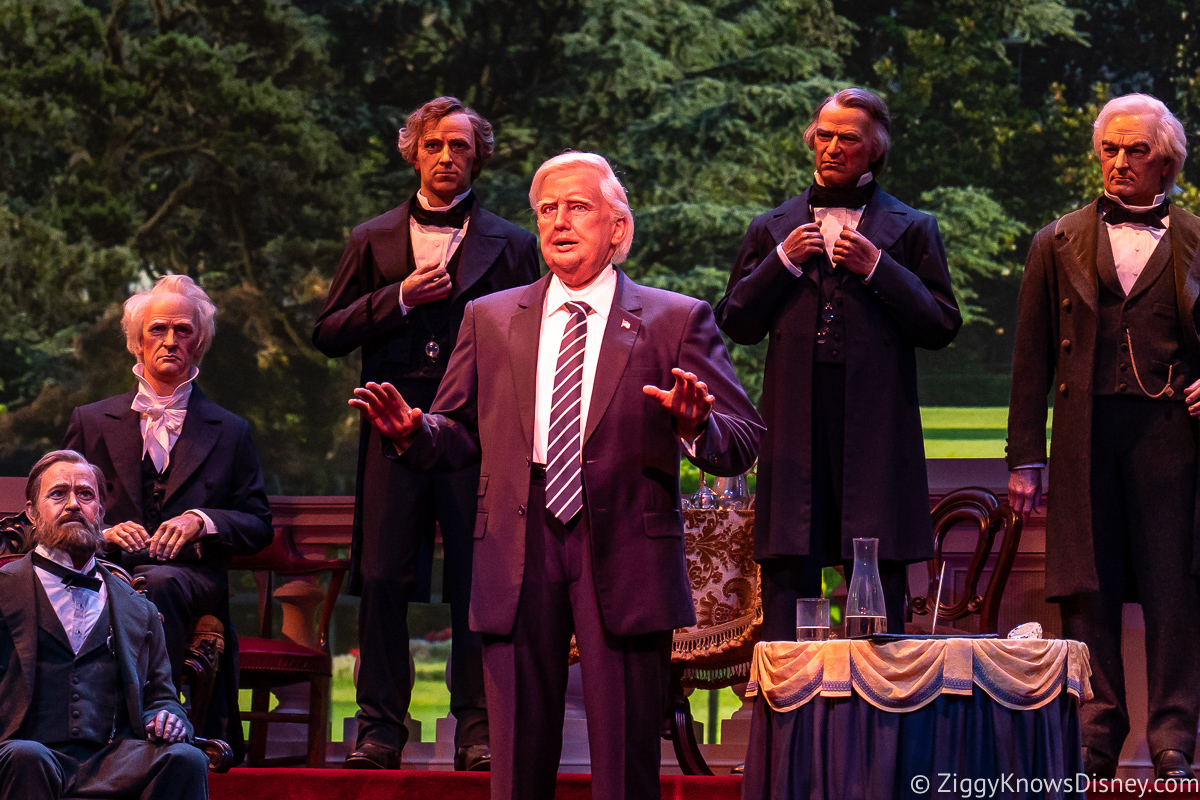 Donald Trump Animatronic Figure Hall of Presidents