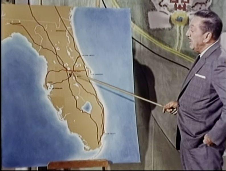 Walt Disney during Florida Project presentation