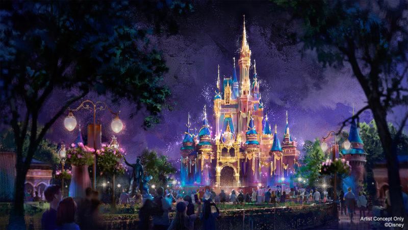 Cinderella Castle Walt Disney World 50th Anniversary