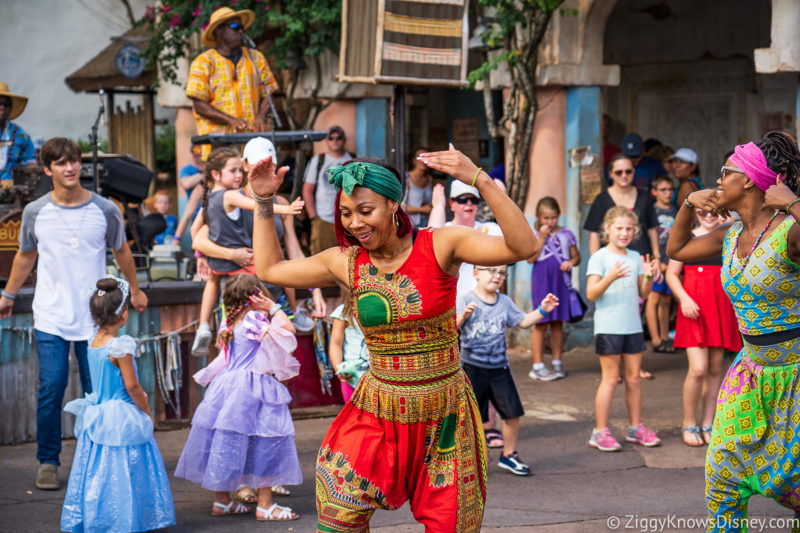 Dance party in Africa at Animal Kingdom