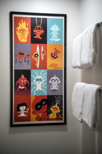 Painting in The Incredibles Rooms