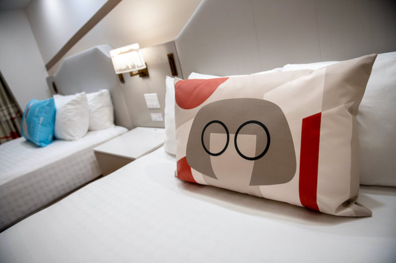 the beds in The Incredibles themed rooms contemporary resort