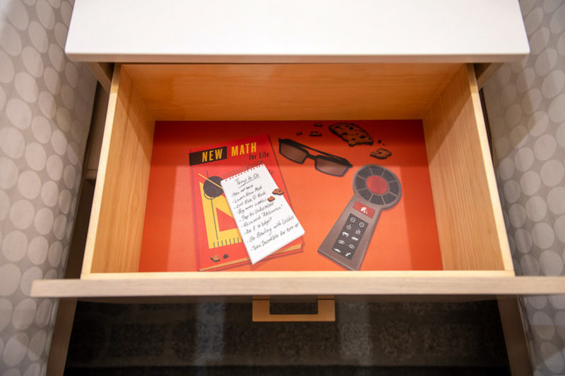 inside the nightstand Incredibles rooms