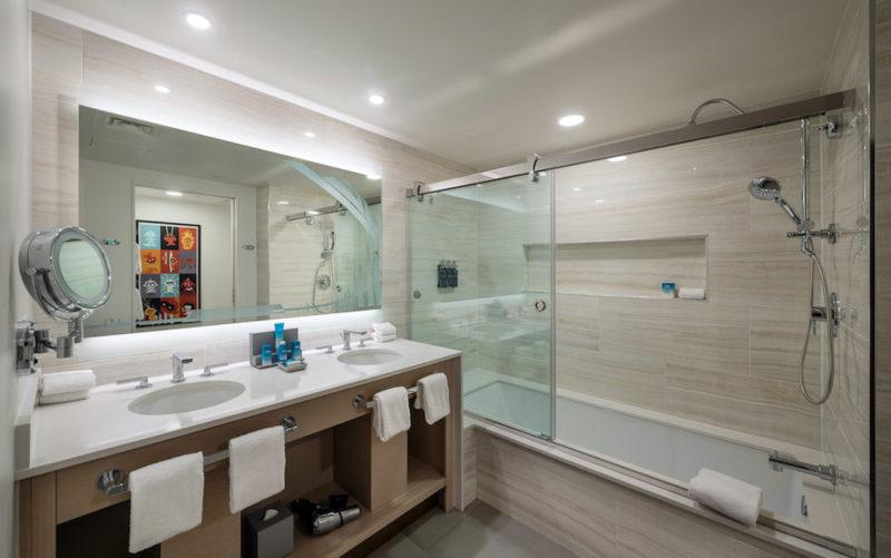 The Incredibles rooms contemporary resort bathrooms