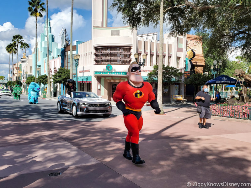 Pixar's The Incredibles characters in Disney World