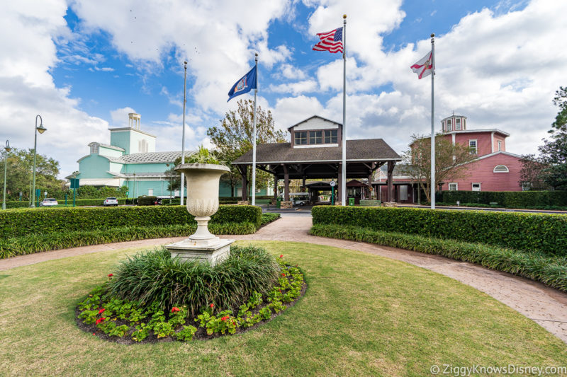 Outside Saratoga Springs Resort Disney World in May