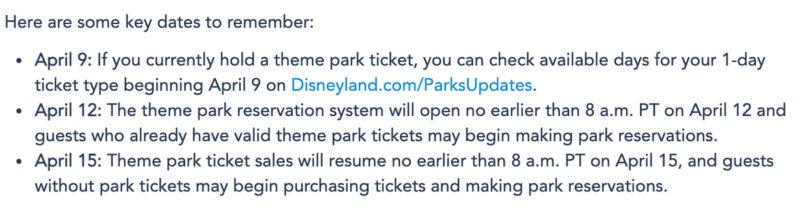 Disneyland Park Reservations