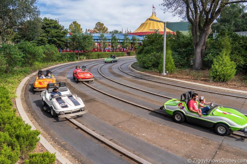 Tomorrowland Speedway Magic Kingdom Rides