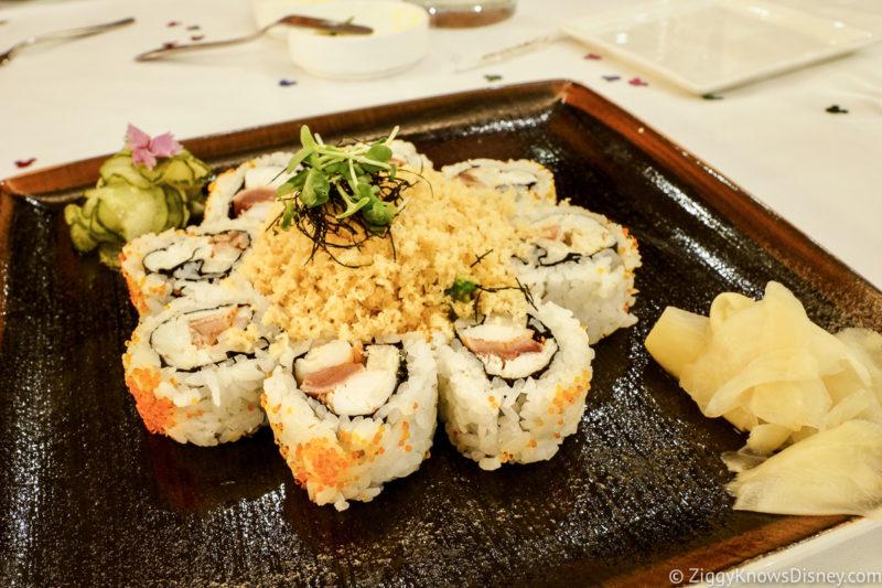 Sushi from California Grill Disney World