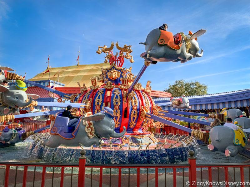 Dumbo the Flying Elephant Best Disney World Spinning Rides