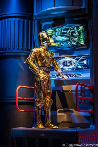 C-3PO animatronic at Star Tours – The Adventures Continue Disney World