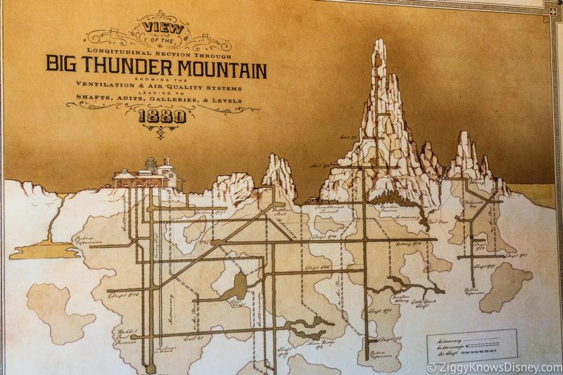 Big Thunder Mountain Railroad Map Disney World