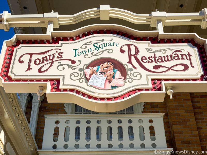 Tony's Town Square Restaurant Magic Kingdom