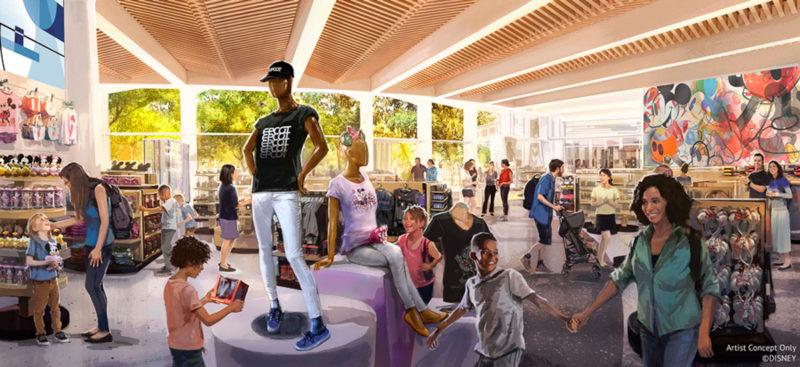 Creations Shop concept art EPCOT