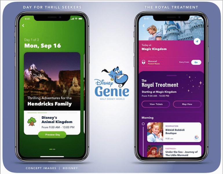 Disney World Disney Genie app