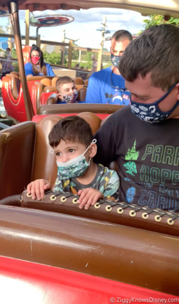Riding the Barnstormer with toddlers