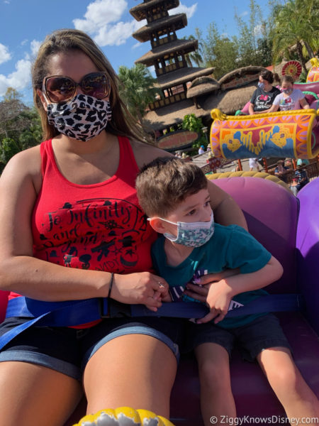 Toddler scared on Disney World Rides