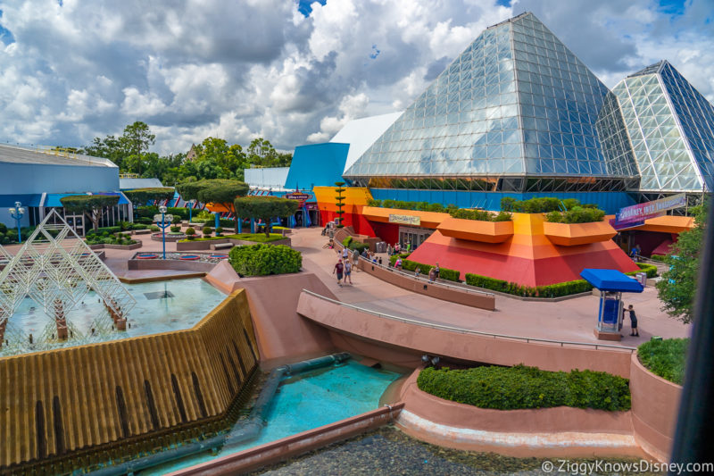 Imagination! pavilion EPCOT from the Monorail