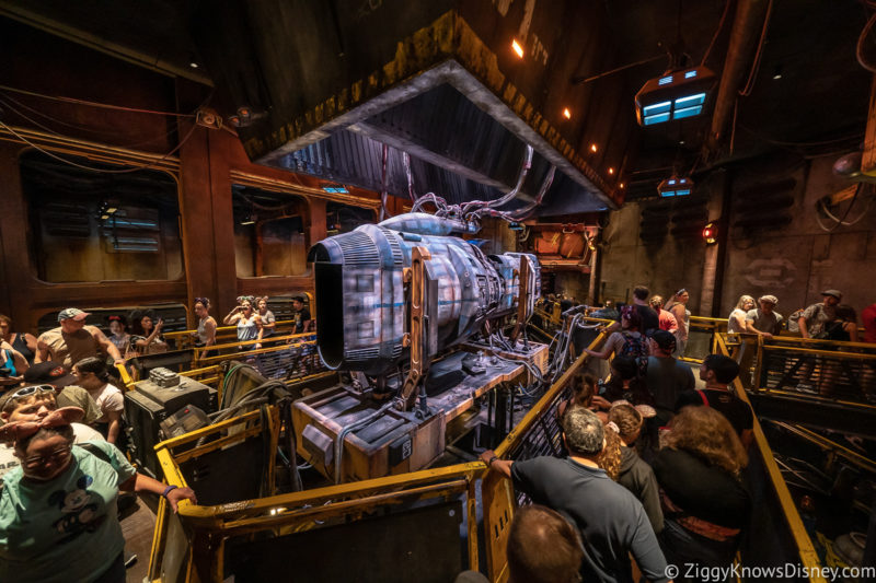 engine in Millennium Falcon Smugglers Run queue