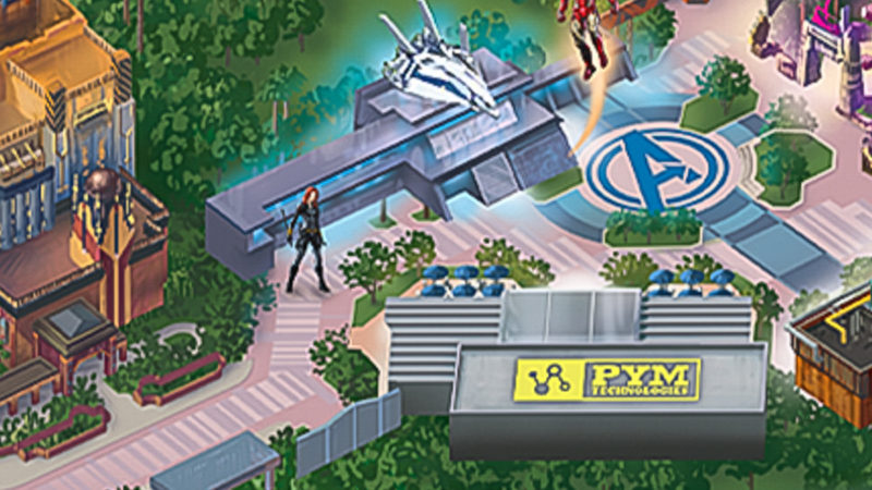 Avengers Campus Map Avengers Ride