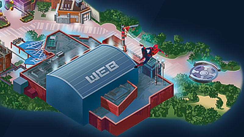 Avengers Campus Map Spider-Man