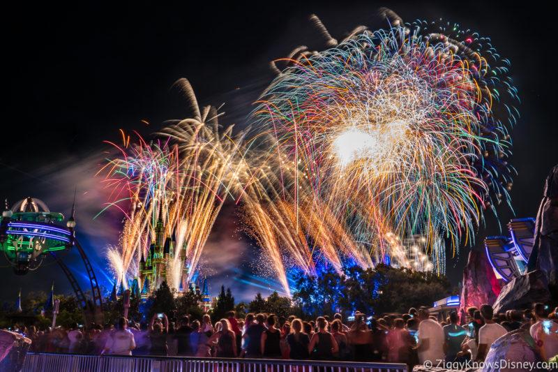 Magic Kingdom Fireworks in July