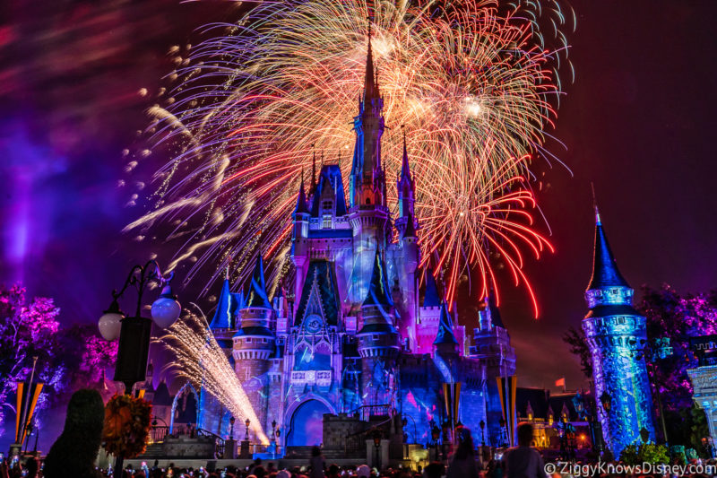 Magic Kingdom Fireworks Disney World in July