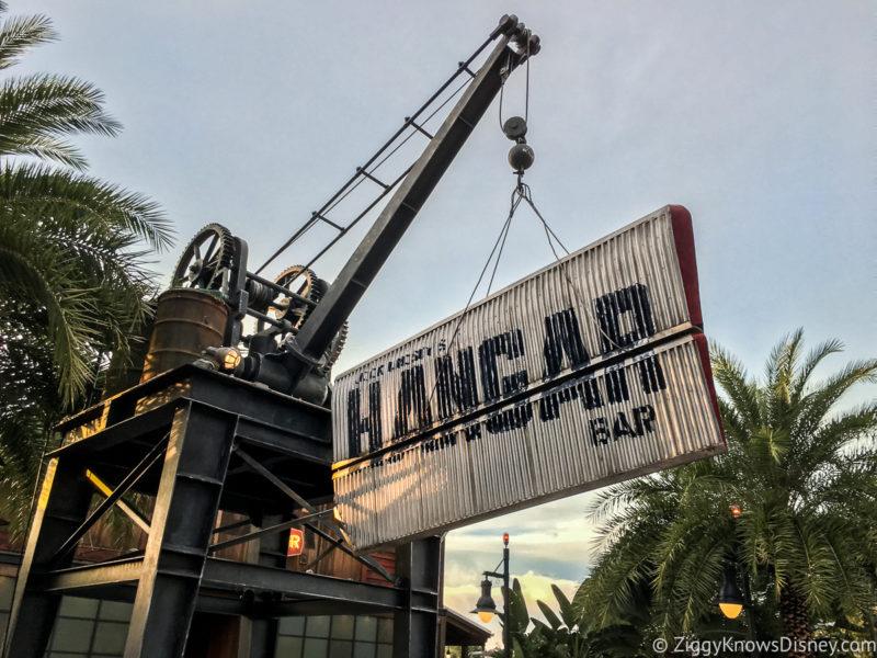 Jock Lindsey's Hangar Bar sign Disney Springs