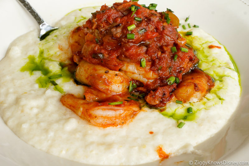 shrimp and grits at Chef Art Smith's Homecomin Disney Springs