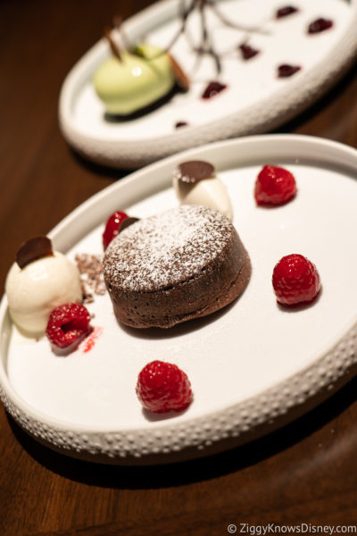 Desserts at Topolino's Terrace Restaurant Disney World