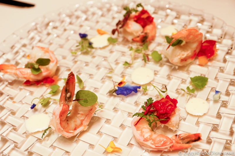 Flying Fish shrimp appetizer