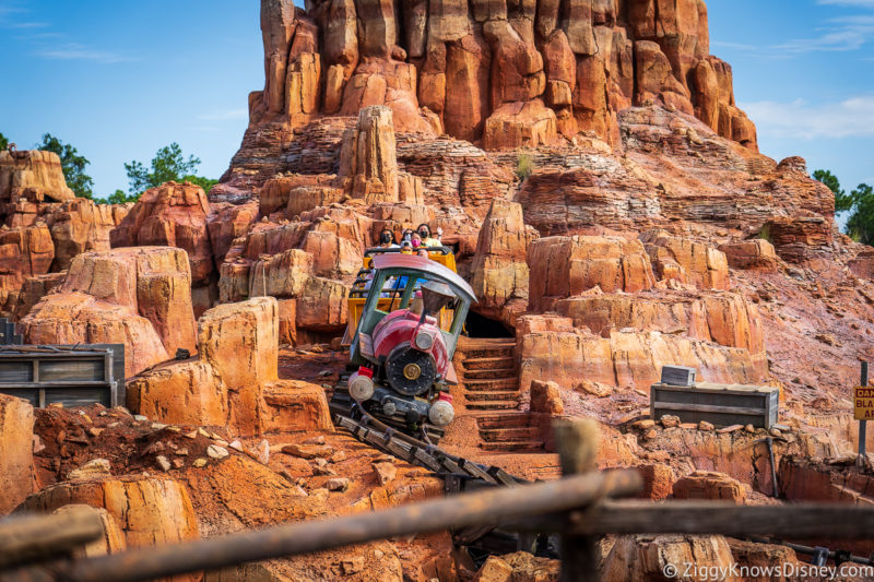 Early Theme Park Entry Attractions Big Thunder Mountain