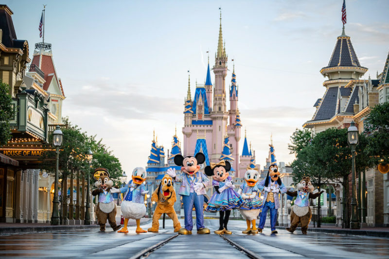 Disney characters for the 50th Anniversary at Disney World