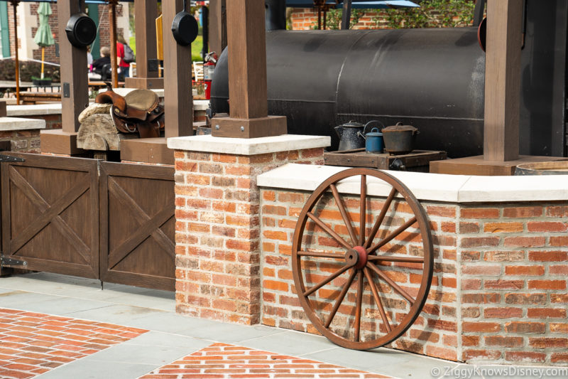 Wheel outside Regal Eagle Smokehouse in EPCOT