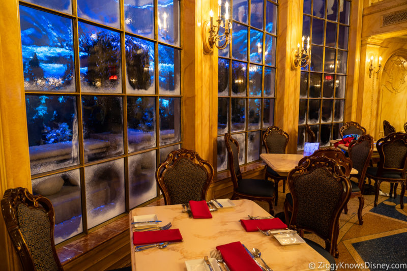 Tables at Be Our Guest Restaurant Magic Kingdom