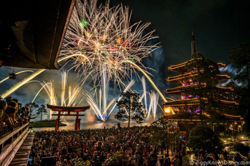EPCOT Fireworks from Japan Pavilion