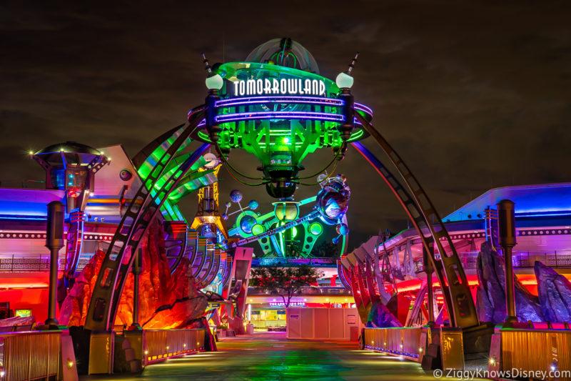 Old Tomorrowland Entrance Sign Magic Kingdom