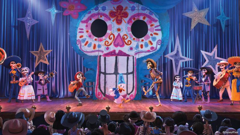 New Coco scene Mickey's PhilharMagic attraction