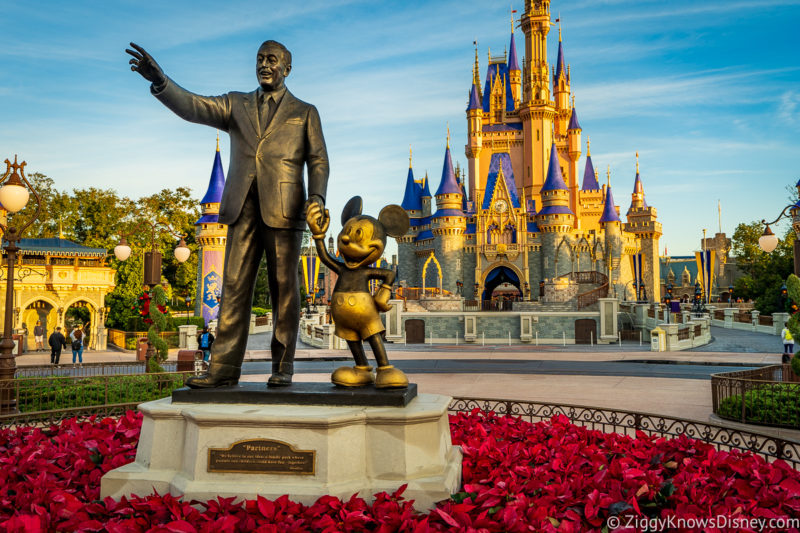 Partners Statue refurbishment Magic Kingdom