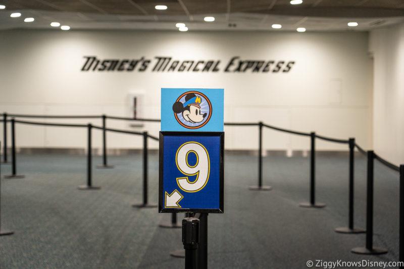 Disney's Magical Express queue Orlando International Airport