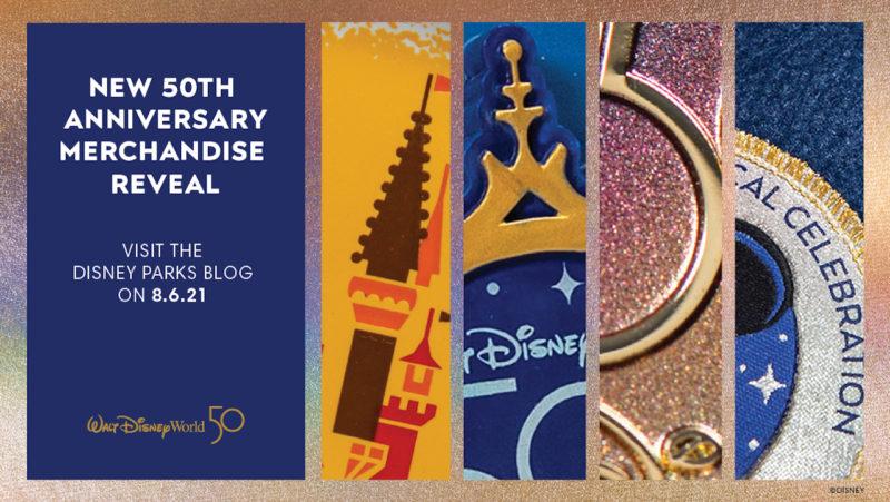 Walt Disney World 50th Anniversary Merchandise reveal
