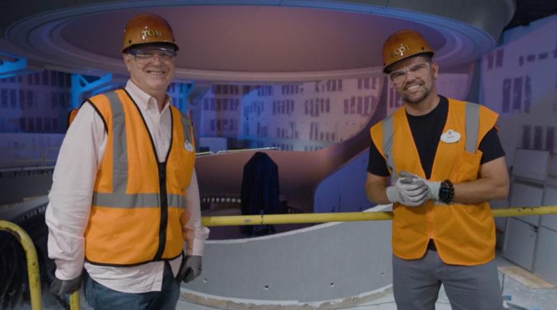 Disney Imagineers inside the Galaxarium