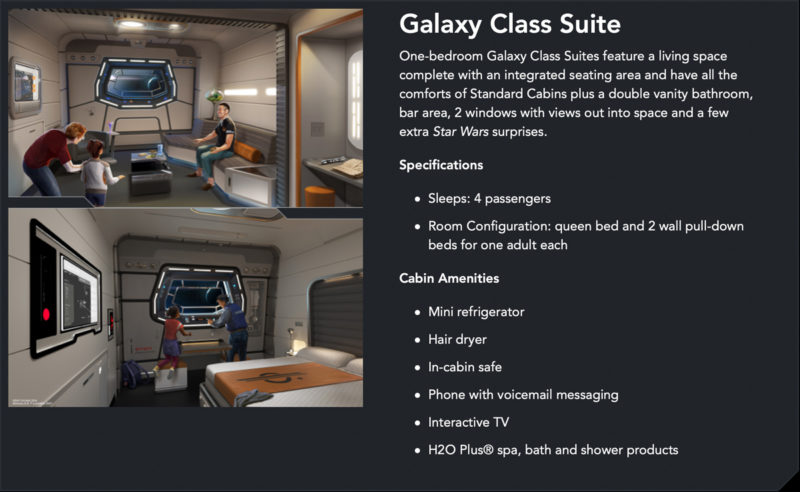 Star Wars: Galactic Starcruiser Rooms Galaxy Class Suite