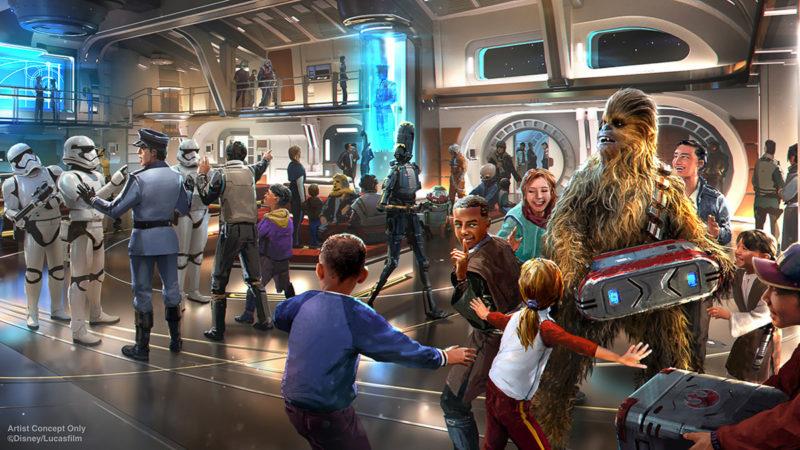 Star Wars: Galactic Starcruiser Atrium concept art