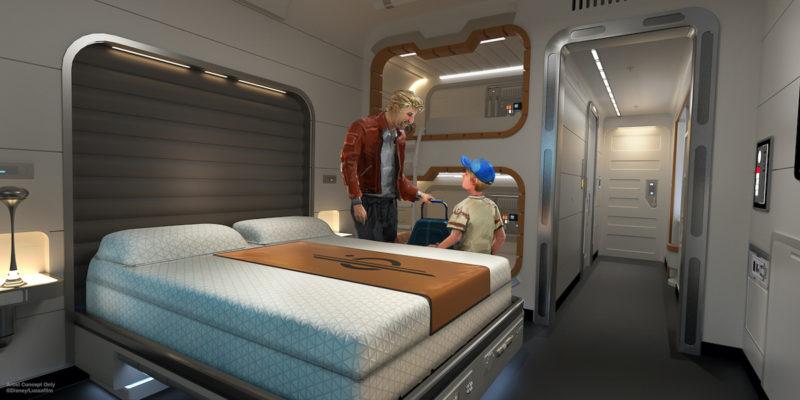 Star Wars: Galactic Starcruiser Standard Cabin Concept art
