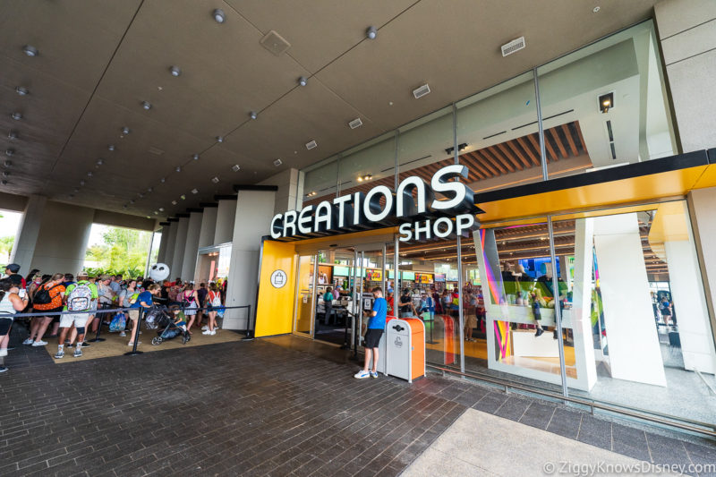 Outside Creations Shop in Breezeway