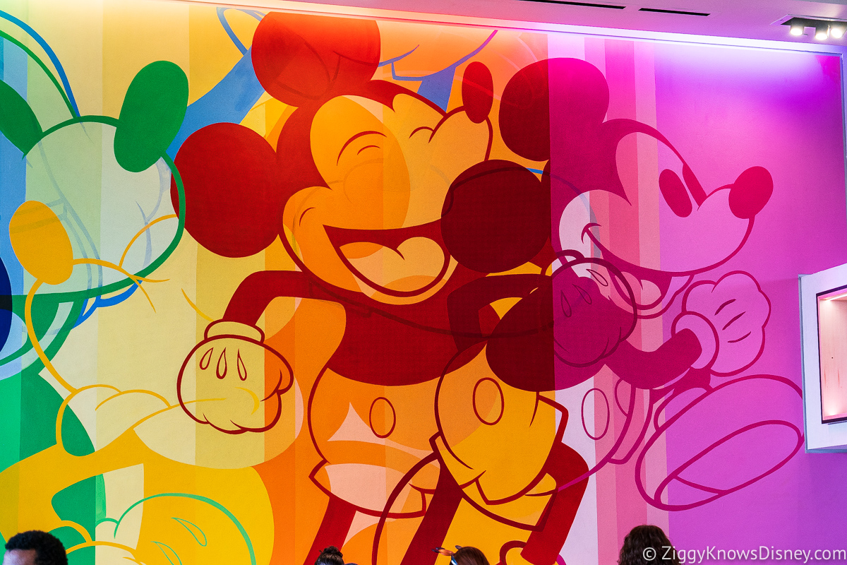 Creations Shop Mickey Mouse in motion Mural EPCOT