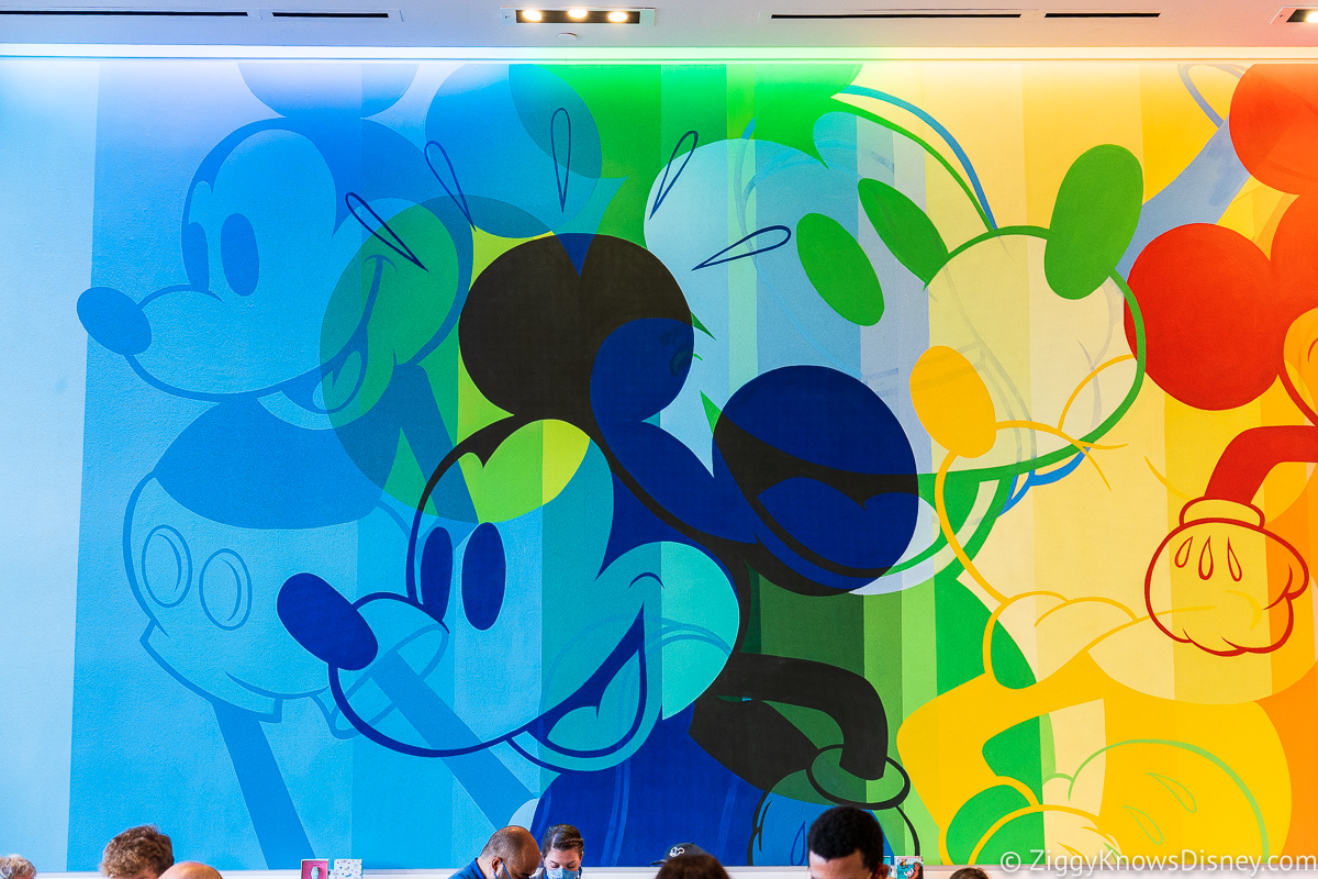 Creations Shop Hand-painted Mickey Mouse Mural EPCOT