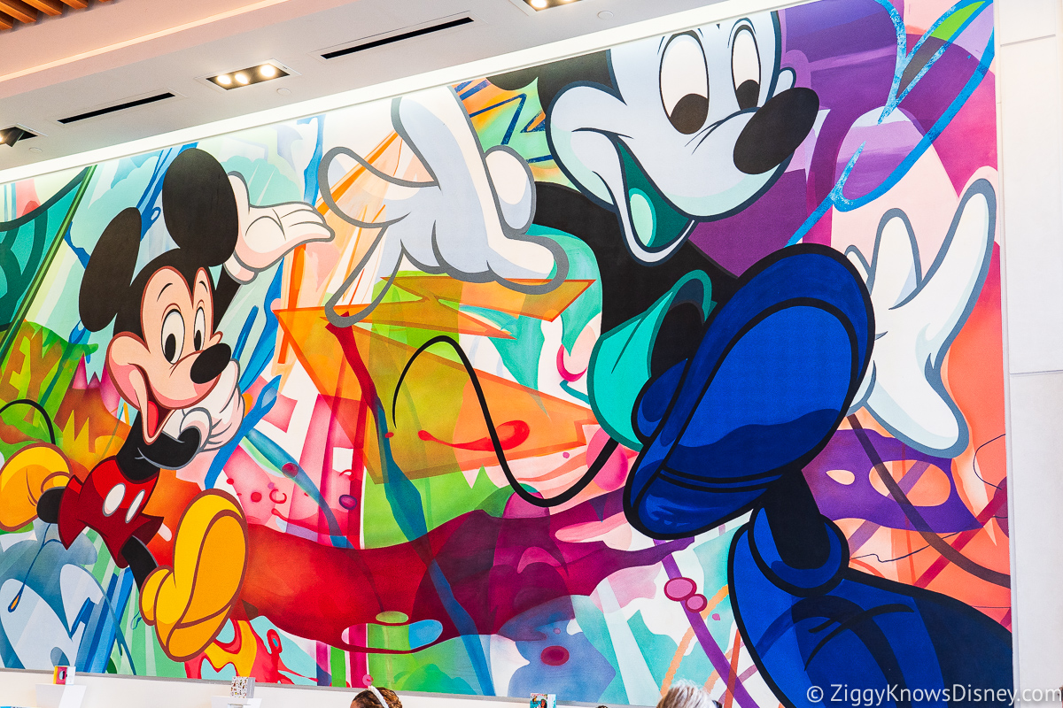 Creations Shop Mickey Mouse Mural EPCOT